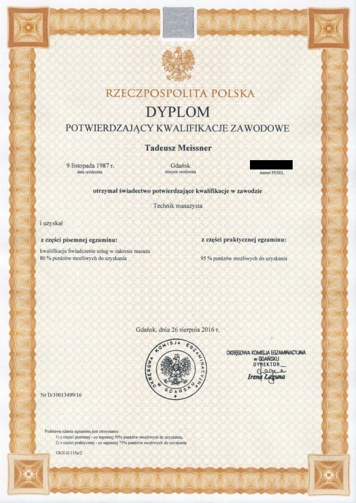 Gabinet masażu Zmasowane Dobro Gdańsk Oliwa masaż